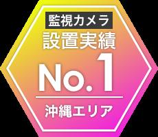 沖縄エリアの監視カメラ設置実績No.1